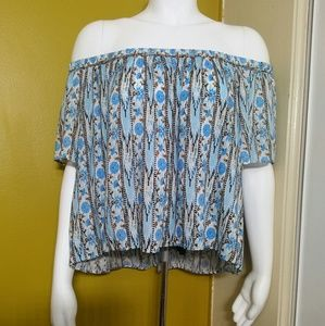 ASTR • Off the Shoulder Island Blouse / size (M)